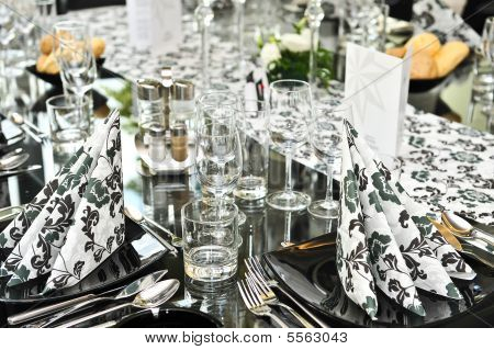 Fancy dinner table set