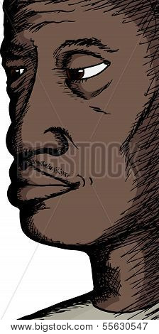 Close Up Of Black Man