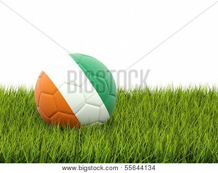 Football With Flag Of Cote D Ivoire