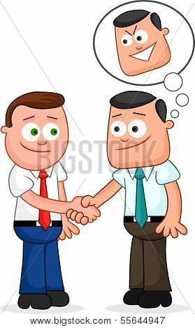 Shaking Hands With One Of Them Thinking Sneaky Thoughts.