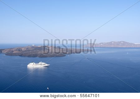 View Of Thira.