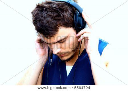 Attractive Man With Headphones