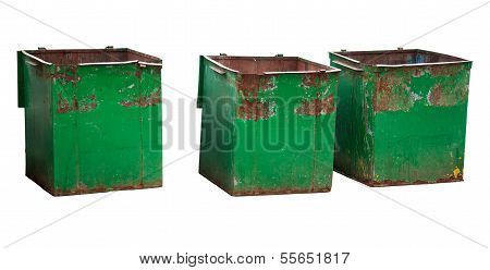 Three Garbage Containers