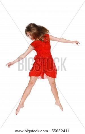Beautiful ballet-dancer, modern style dancer