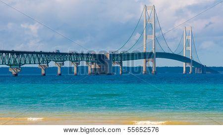Mackinac Bridge, Lake Michigan, Colonial Michilimackinac Park, MI