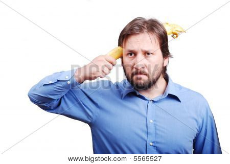 Young Man With Banana