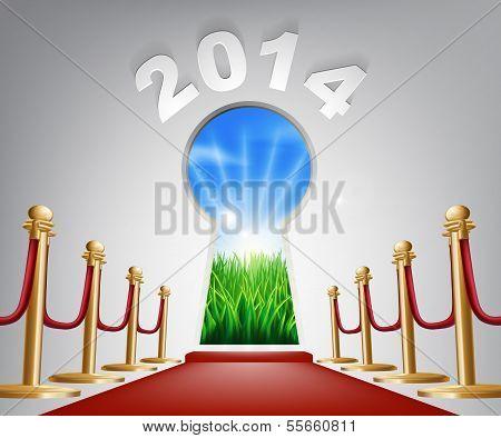 New Year Door Keyhole 2014