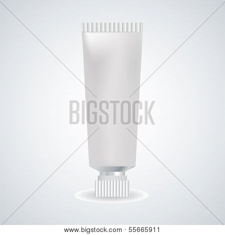 Vector illustration of tube paint.