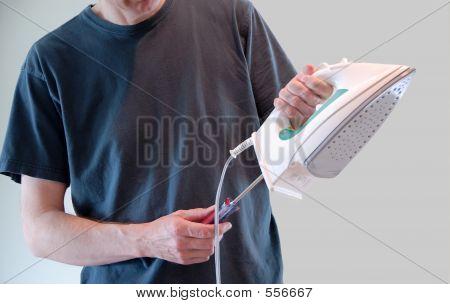 Kleidung-Eisen-Reparatur
