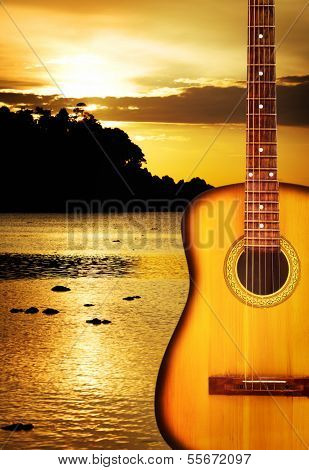 Yellow Acoustic Guitar