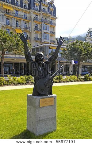 Carlos Santana Monument In Montreux, Switzerland