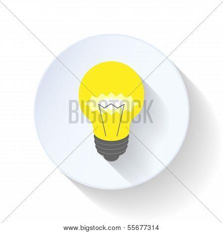 Electric light bulb flat icon