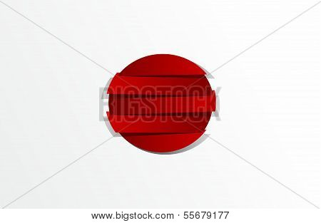 Abstract Flag of Japan