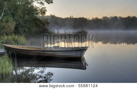 Boat On A Calm Lake