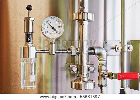 Manometer equipment of brewery