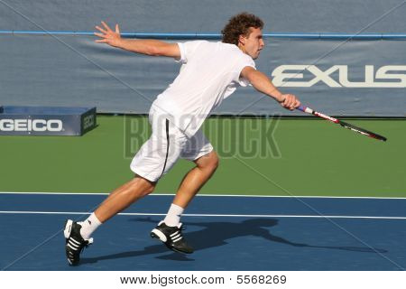 Ernests Gulbis: Backhand de jogador de tênis profissional