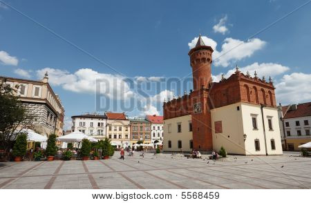 The Main Square In Tarnow, Poland
