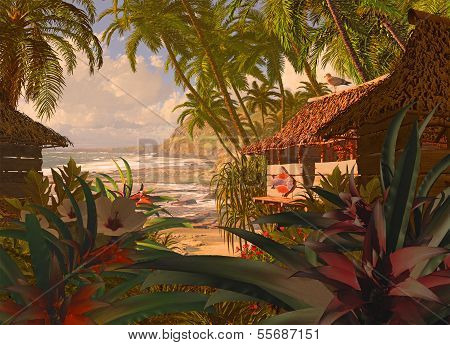 Polynesian Beach Hut