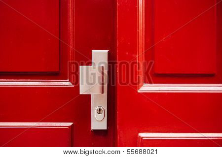Red Froont Door