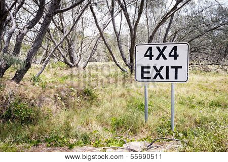 Exit Track Sign