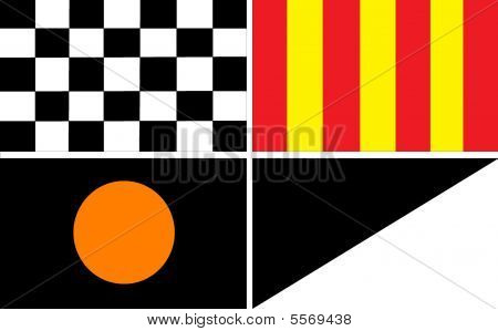 Auto Racing  Rules  Yellow Flag on F1 Flags Stock Photo   Stock Images   Bigstock