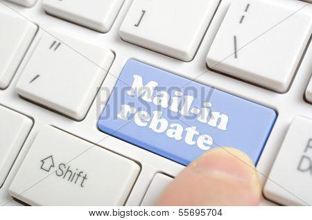 Pressing mail in rebate key on keyboard