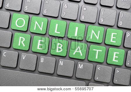 On line rebate on keyboard