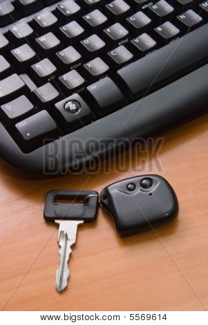 The Black  Computer  Keyboard And Key