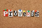 pic of proverb  - The word Proverbs - JPG