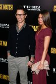 NEW YORK-DEC 16: Actor Jeffrey Donovan and wife Michelle Woods attend the world premiere of