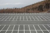 picture of parking lot  - A deserted car park at the 5th Station  - JPG