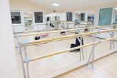 stock photo of ballet barre  - the image of a ballet barre - JPG