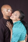 stock photo of black american  - Beautiful happy and in love young african - JPG