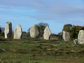 picture of megaliths  - largest collection of megaliths in Carnac - JPG