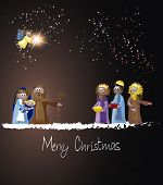 foto of bethlehem star  - Christmas Nativity Scene - JPG