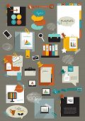 pic of paper cut out  - Set of infographic collection - JPG