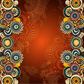 stock photo of hippies  - Vector abstract floral decorative background - JPG