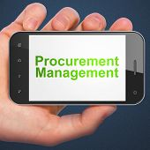 Business concept: Procurement Management on smartphone