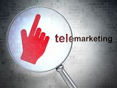 stock photo of telemarketing  - Advertising concept - JPG