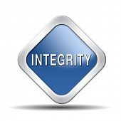 stock photo of integrity  - integrity authentic and honest and reliable guidance integrity button integrity icon trust with text and word concept - JPG