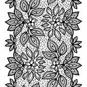 pic of doilies  - Old lace seamless pattern - JPG