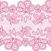 stock photo of lace  - Old lace seamless pattern - JPG
