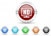 hd display icon christmas set