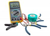 image of electricity meter  - the Tools for the home electrical repair - JPG