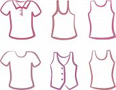stock photo of vest  - Silhouettes of shirts - JPG