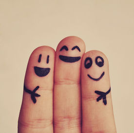 picture of finger  - happy fingers happy friends fingers and peace - JPG