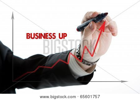 Diagram With The Word Business Up