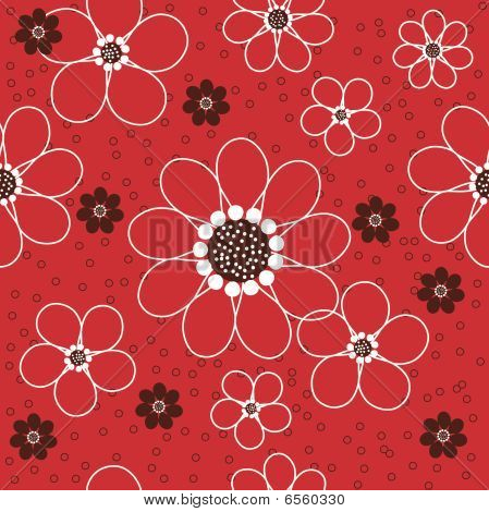 Daisies Seamless Pattern