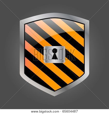 Secuirity Shield With Keyhole