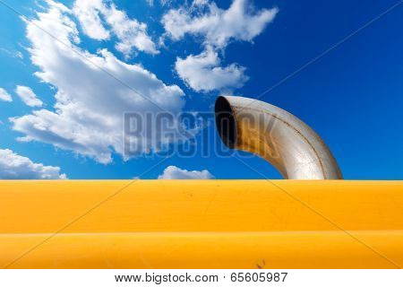 Exhaust Pipe On Blue Sky